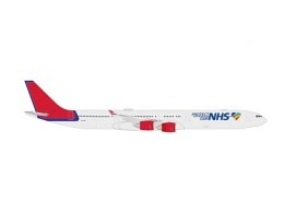 """A340-600 Maleth Aero """"Protect Our NHS"""" 9H-NHS"""