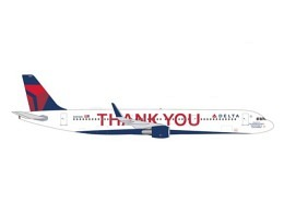 """A321 Delta """"Thank you"""" N391DN (Herpa)"""