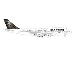 """Boeing 747-400 Iron Maiden """"Ed Force One"""" TF-AAK (Herpa 1:200)"""
