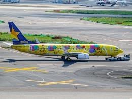 """Boeing 737-800 Skymark Airlines """"Pekachu"""" JA73AB"""
